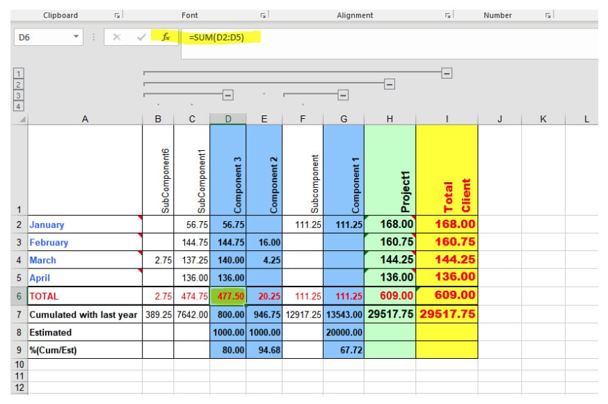 Berg Software - automated reporting - Java to Excel - Include formulas